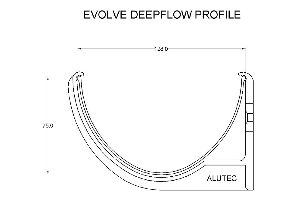 Evolve Deepflow Aluminium Guttering System From Marley Alutec