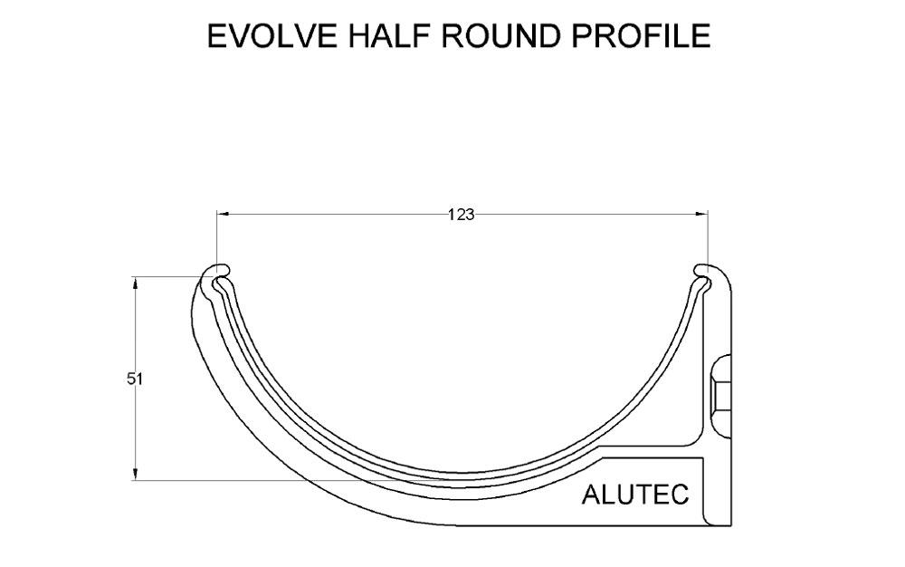 Evolve Half Round Aluminium Guttering System By Marley Alutec