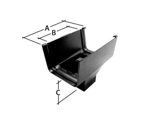 Marley Alutec Evolve Box aluminium gutter outlet GB525