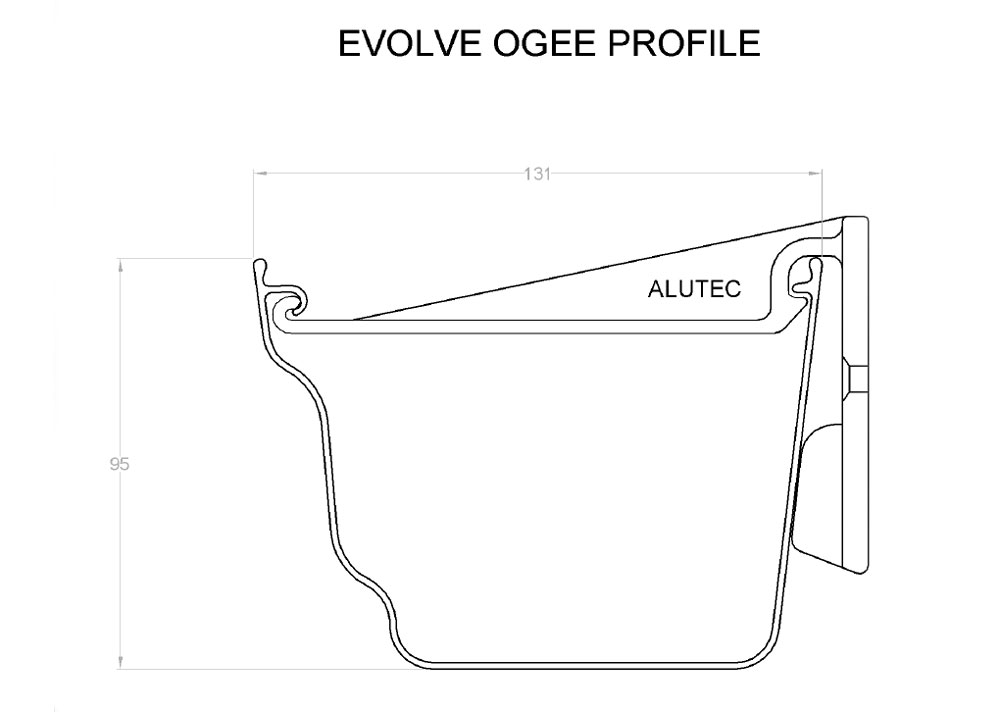Evolve Ogee Aluminium Guttering System From Marley Alutec