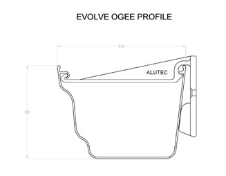 Marley Alutec Evolve Ogee aluminium gutter GY513 CAD file