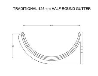 Marley Alutec Traditional Half Round aluminium gutter system CAD file