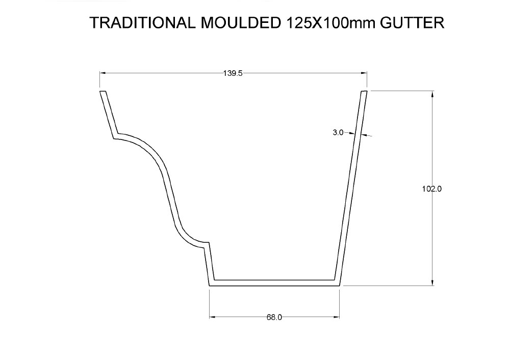 Traditional Moulded Ogee Aluminium Guttering System