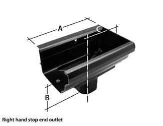 Marley Alutec Aligator Classic aluminium gutter stop end outlet GK429