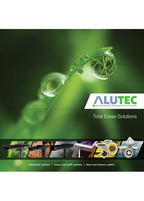 Product overview of Marley Alutec product ranges of aluminium gutters, doenpipes, fascia and soffit