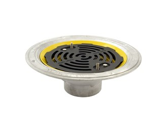 Marley Alutec roof outlet vertical threaded flat grate DR415F