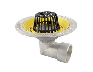Marley Alutec roof outlet 90 degree threaded dome grate DR435