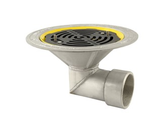 Marley Alutec roof outlet 90 degree threaded flat grate DR435F