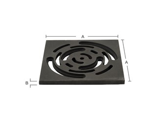 Marley Alutec roof outlet terrace grate DRG8