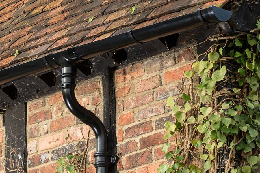 Aluminium guttering by Marley Alutec Moreteyne Manor Bedfordshire