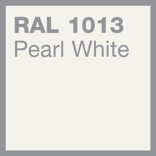 RAL 1013 Pearl white powder coating by Marley Alutec
