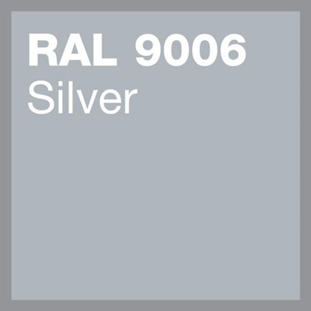 RAL 9006 Silver powder coating by Marley Alutec