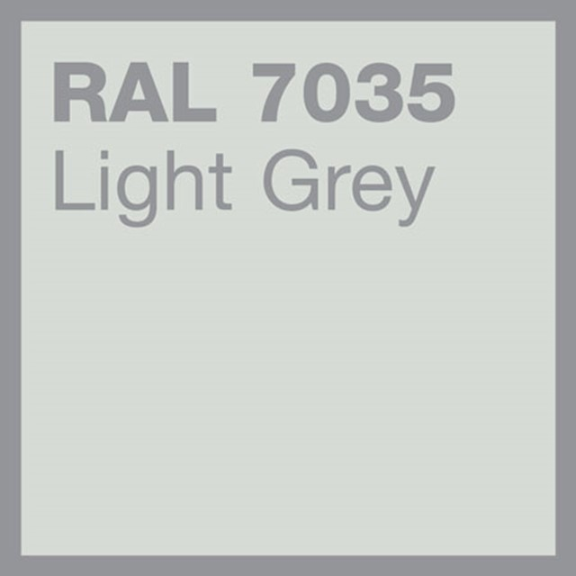 RAL 7035 Light grey powder coating by Marley Alutec