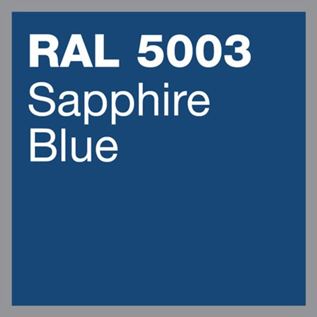 RAL 5003 Sapphire blue powder coating by Marley Alutec