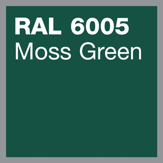 RAL 6005 Moss green powder coating by Marley Alutec