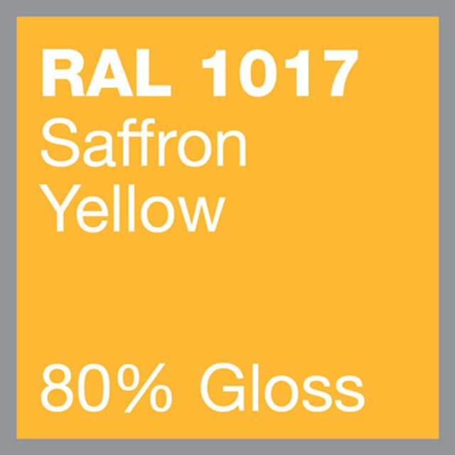 RAL 1017 Saffron yellow powder coating by Marley Alutec