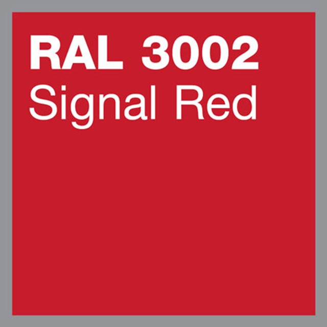 RAL 3002 Signal red powder coating by Marley Alutec