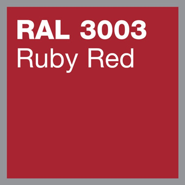 RAL 3003 Ruby red powder coating by Marley Alutec