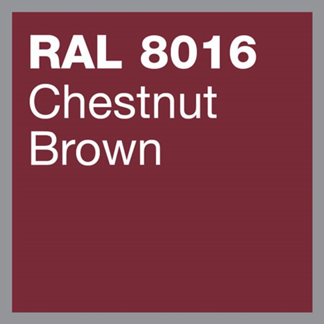 RAL 8016 Chesnut brown powder coating by Marley Alutec