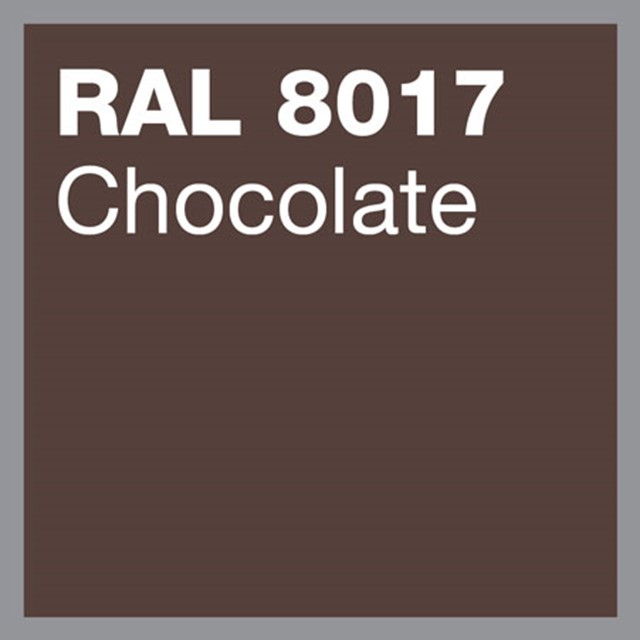 RAL 8017 Chocolate powder coating by Marley Alutec