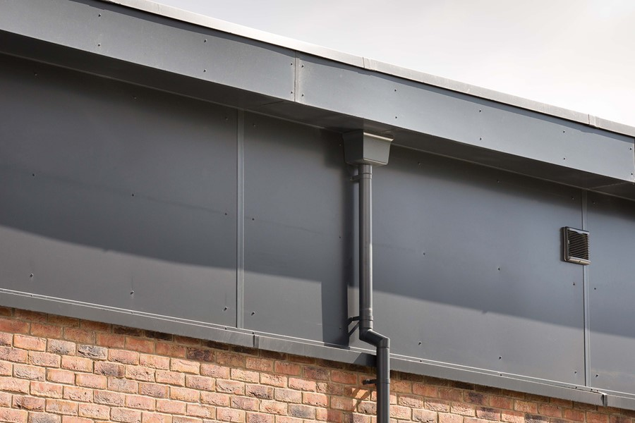 Aluminium guttering by Marley Alutec South Holderness Technology College