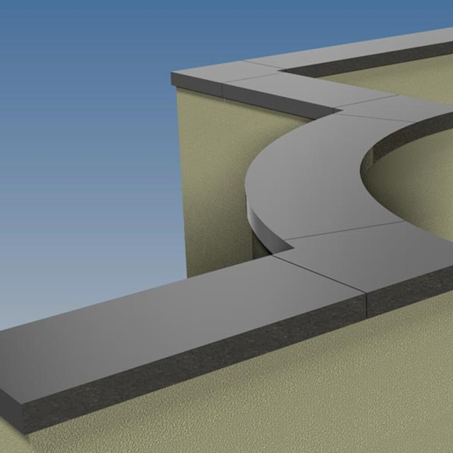 Aluminium coping system by Marley Alutec