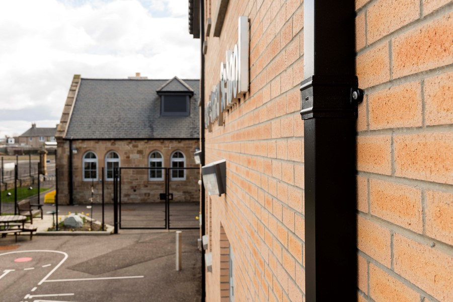 Aluminium guttering by Marley Alutec St-Michael-Primary-School