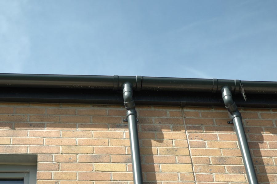 Aluminium guttering by Marley Alutec Gwalia, part of the Pobl Group
