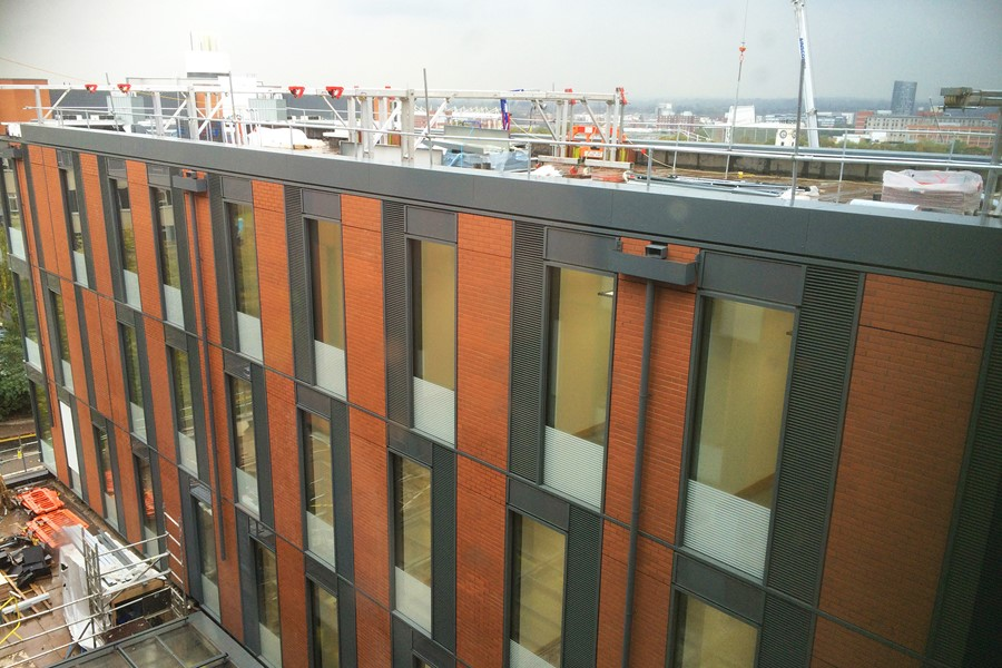 Aluminium guttering by Marley Alutec Leicester Centre of Medicine