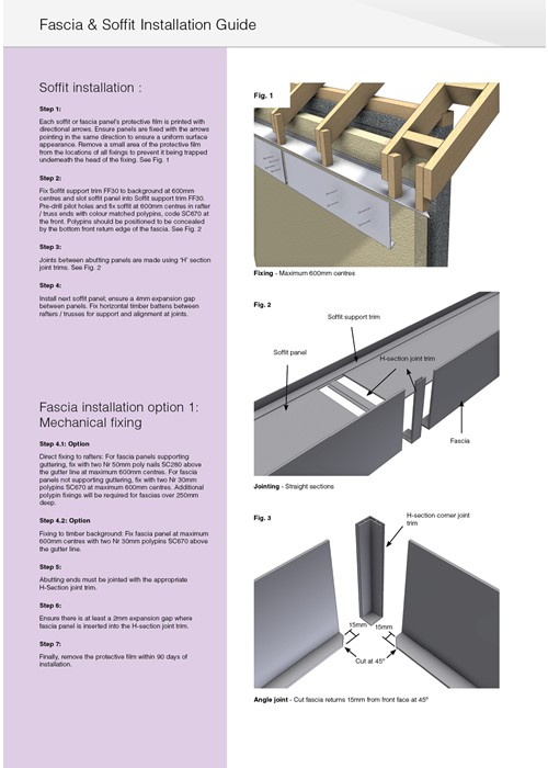 Marley Alutec Evoke fascia and soffit installation instructions