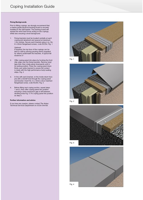 Marley Alutec Evoke coping installation instructions