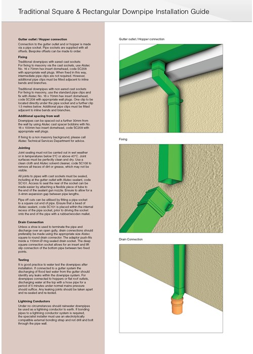Marley Alutec Traditional square and rectangular downpipes