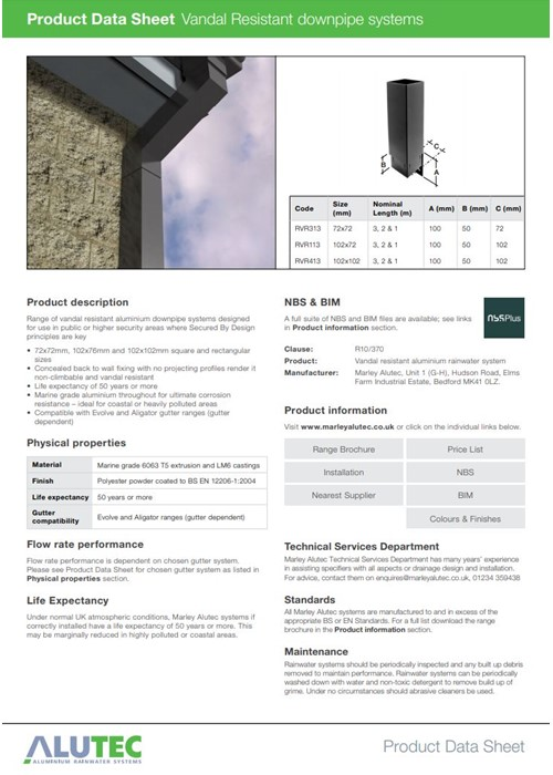 Vandal Resistant Downpipes
