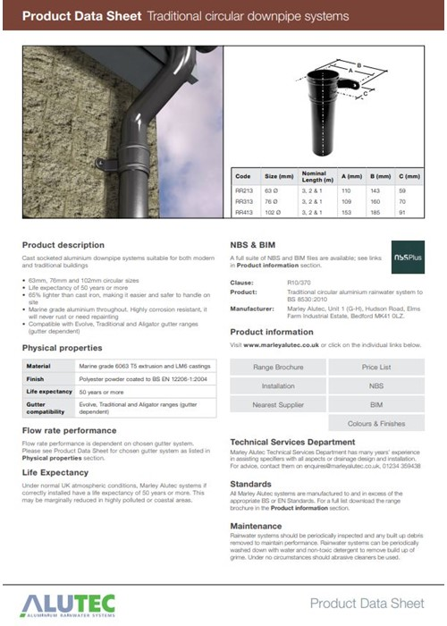 Traditional Circular Downpipes