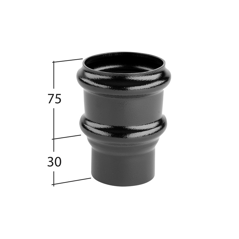 63mm Non Eared Pipe Socket