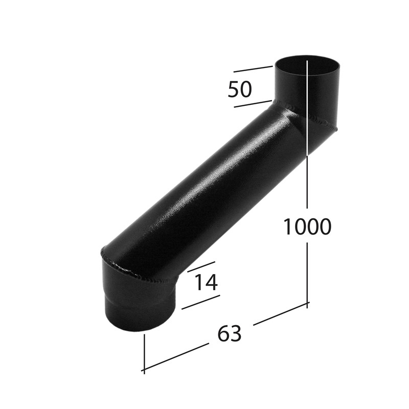 63mm Adjustable Eaves Offset 2-part adj 90 to 1000mm