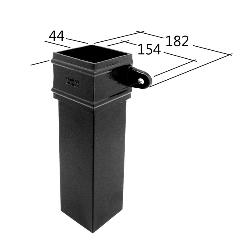102x76mm Rectangle Downpipe 3m
