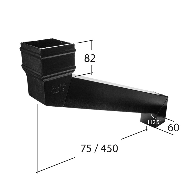 102x76mm Rectangle Adjustable Eaves Offset Adj 75mm to 450mm