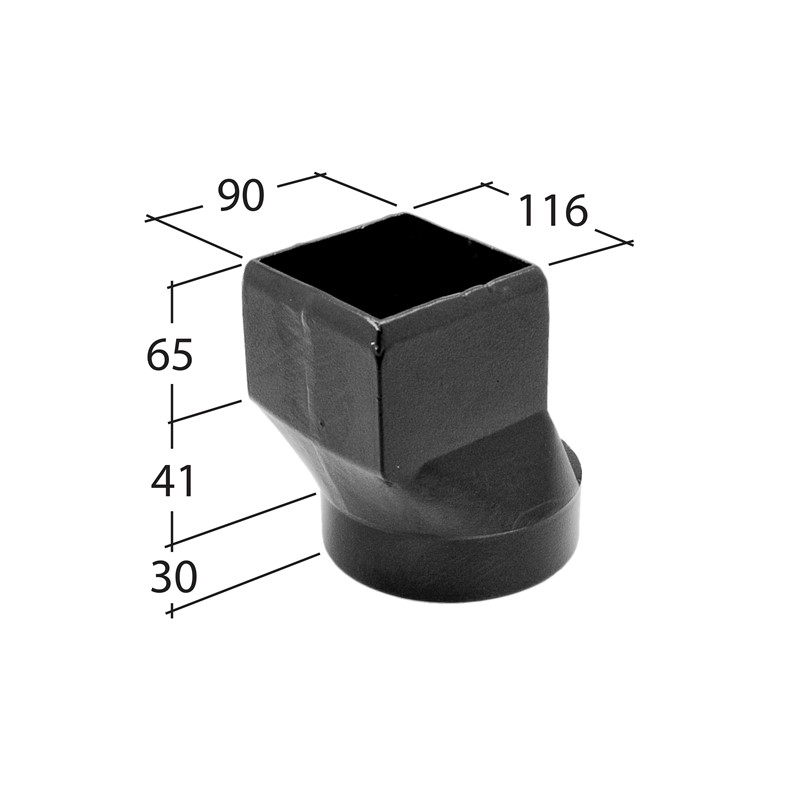 102x76mm Rectangle Drain Connector (slip socket)