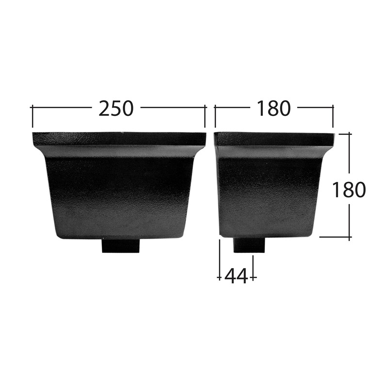 Flushfit 102x76mm Rectangle Standard Hopper Head