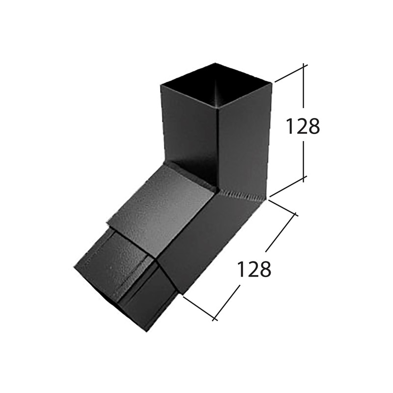 72mm Square 112.5° Bend