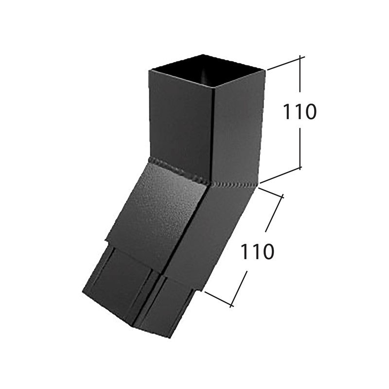 72mm Square 135° Bend