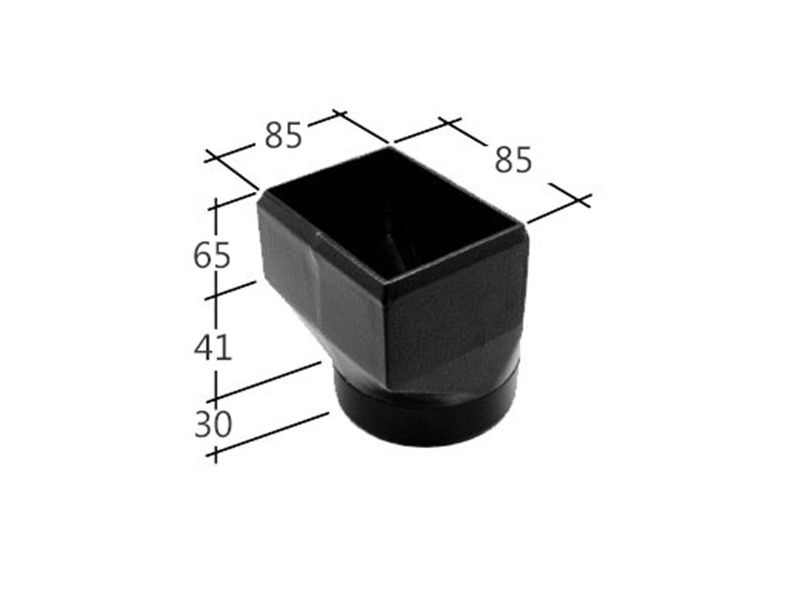 72mm Square Drain connector (slip socket)