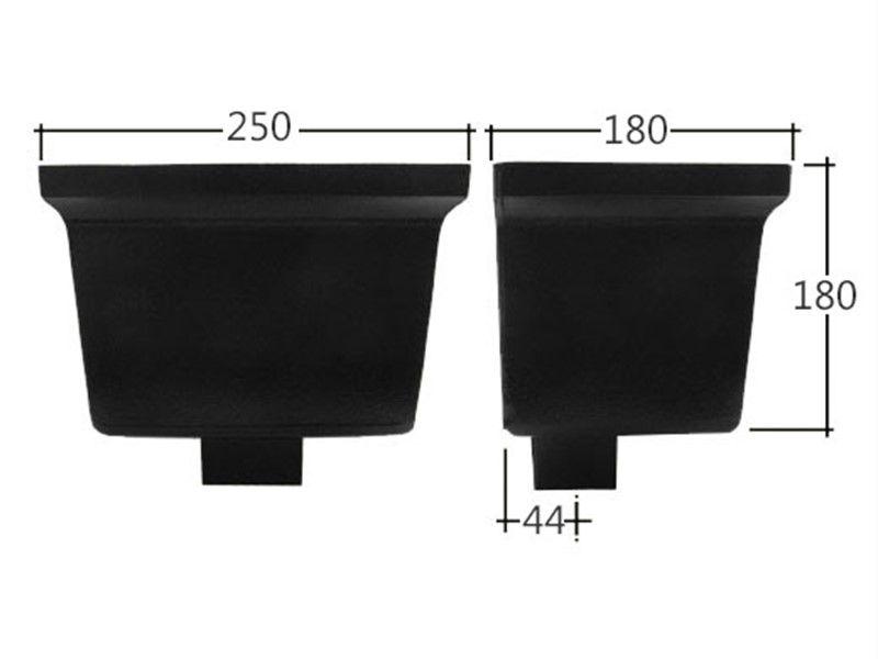 Vandal Resistant 102x76mm Rectangle Standard Hopper Head