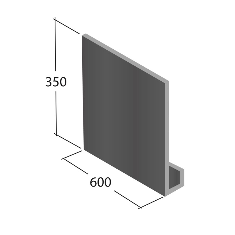 Gable box end, 350 x 600mm