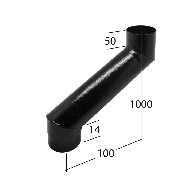 76mm Adjustable Eaves Offset 2-part adj 90 to 1000mm