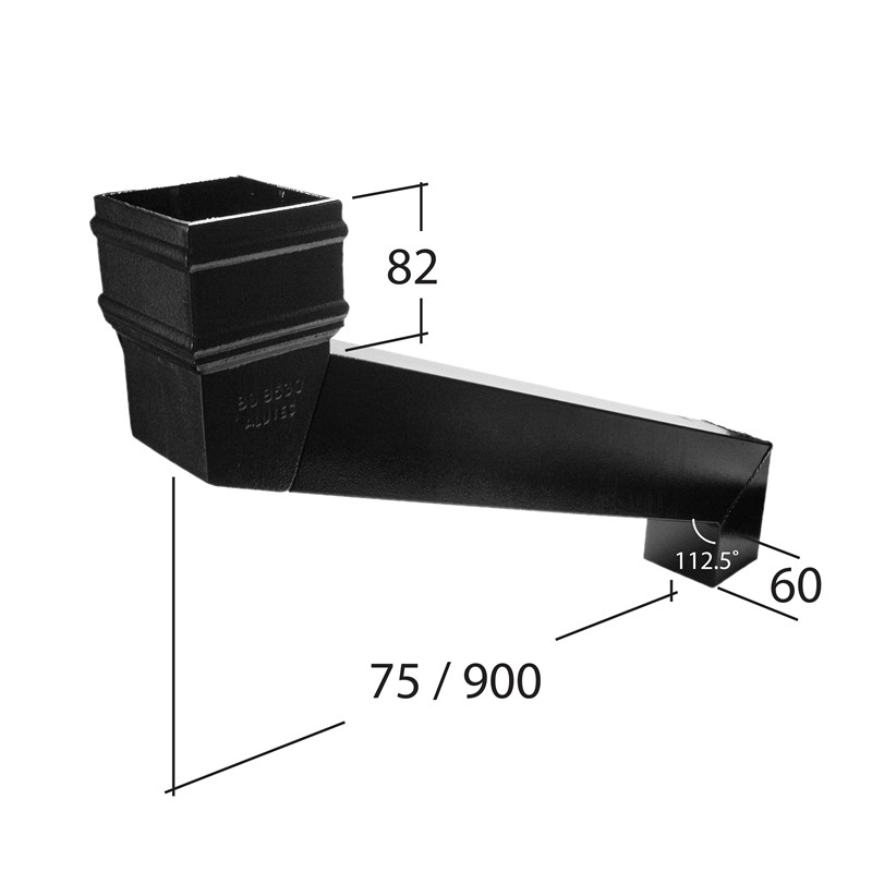72mm Square Adjustable Eaves Offset 75mm to 900mm