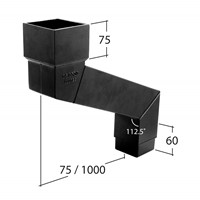 Marley Alutec Flush-fit square aluminium downpipe adjustable eaves offset RJ3925 RJ3950 RJ39100