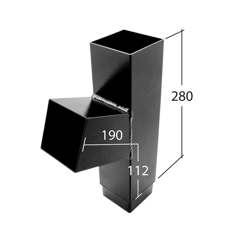 102mm Square 112.5° Branch