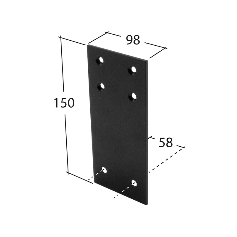 102mm Square Fixing Plate